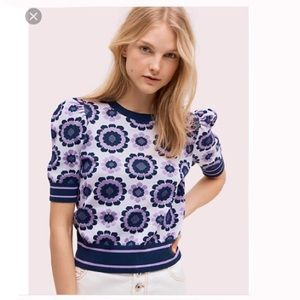 Kate Spade Geo Floral Sweater